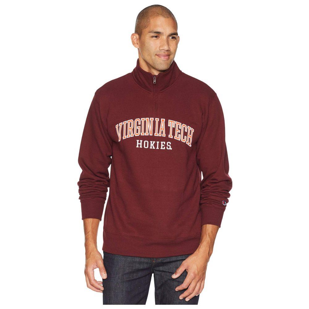 チャンピオン Champion College メンズ トップス【Virginia Tech Hokies Powerblend 1/4 Zip】Maroon