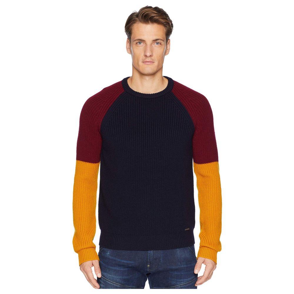 ディースクエアード DSQUARED2 メンズ トップス ニット・セーター【Color Block Sweater】Navy/Bordeaux/Ochre