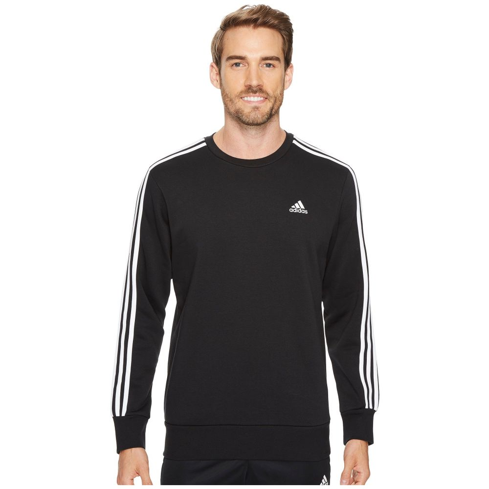 アディダス adidas メンズ トップス フリース【Essentials 3S Brushed Fleece Crew】Black/White