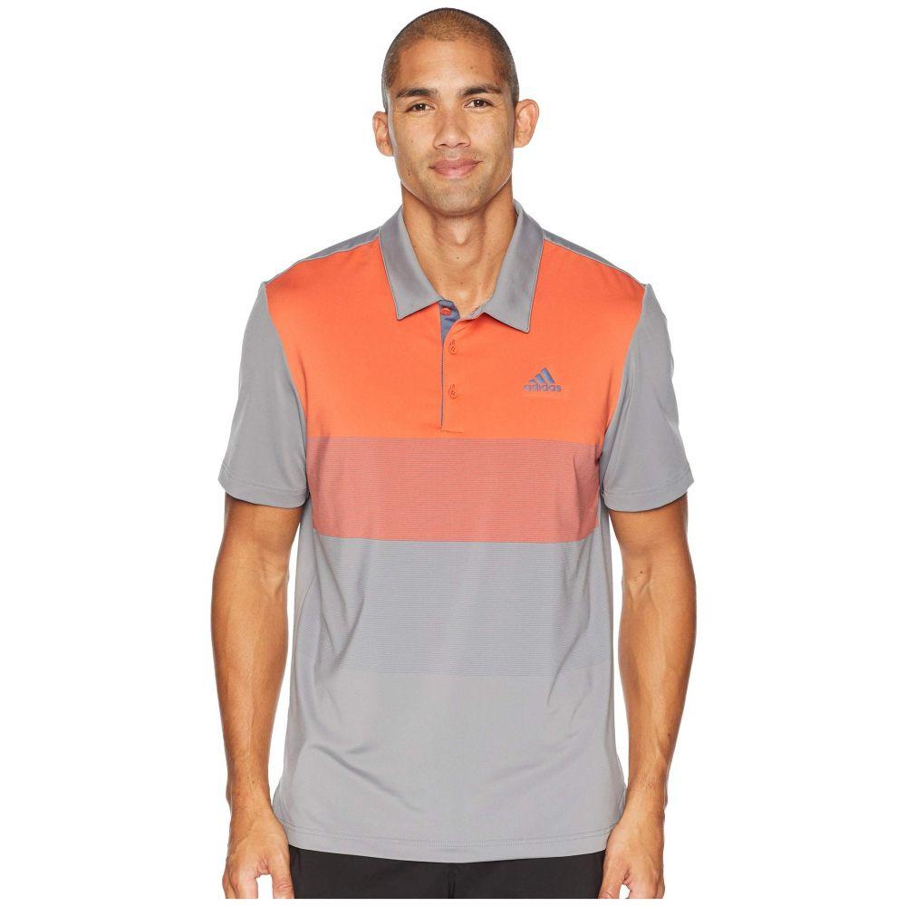 アディダス adidas Golf メンズ トップス ポロシャツ【Ultimate Color Block Polo】Grey Three