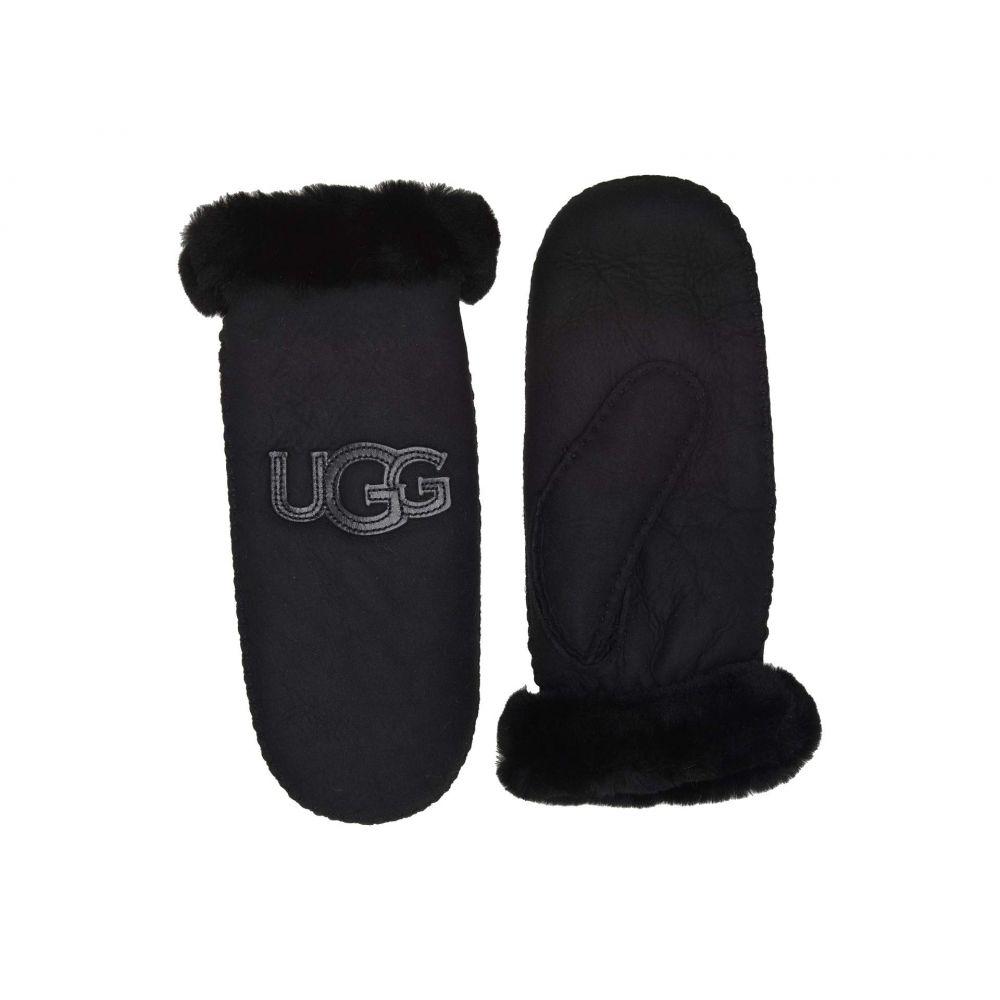 アグ UGG レディース 手袋・グローブ【Logo Water Resistant Sheepskin Mitten】Black
