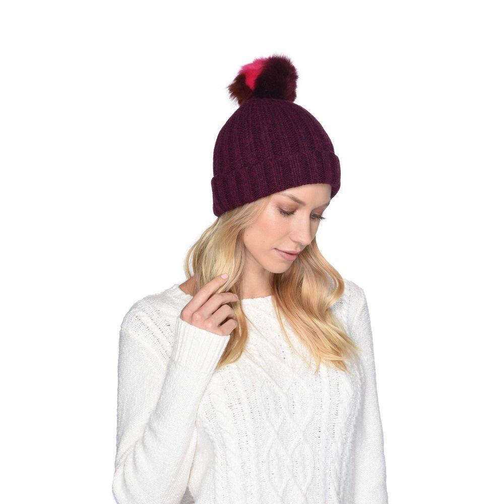 アグ UGG レディース 帽子 ニット【Multicolored Sheepskin Pom Knit Hat】Port Multi