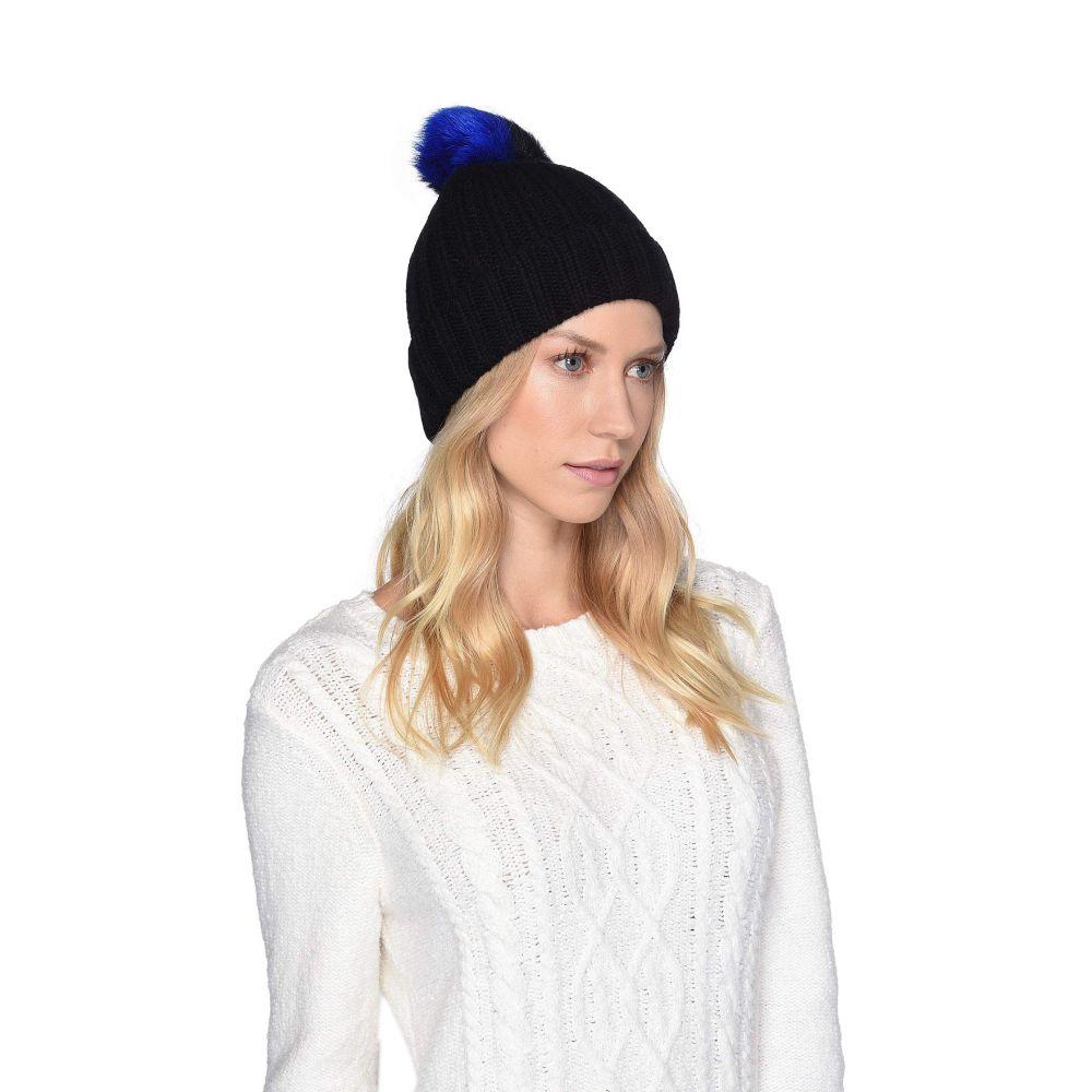 アグ UGG レディース 帽子 ニット【Multicolored Sheepskin Pom Knit Hat】Black Multi