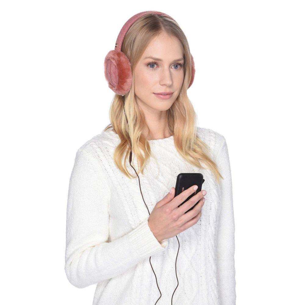 アグ UGG レディース ファッション小物【Cable Knit Water Resistant Sheepskin Earmuff with Tech Option】Lantana Pink
