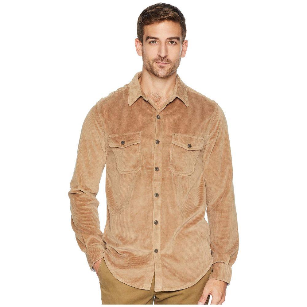 トゥルーグリット True Grit メンズ トップス シャツ【Best Stretch Cord Long Sleeve Two-Pocket Shirt with Contrast Chambray Trim】Khaki
