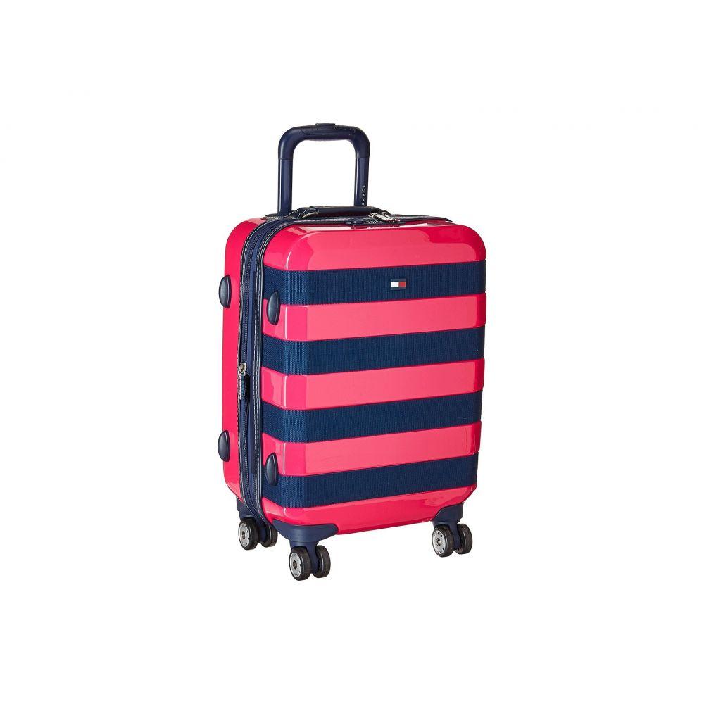 トミー ヒルフィガー Tommy Hilfiger レディース バッグ スーツケース・キャリーバッグ【Rugby Stripe 21' Upright Suitcase】Pink