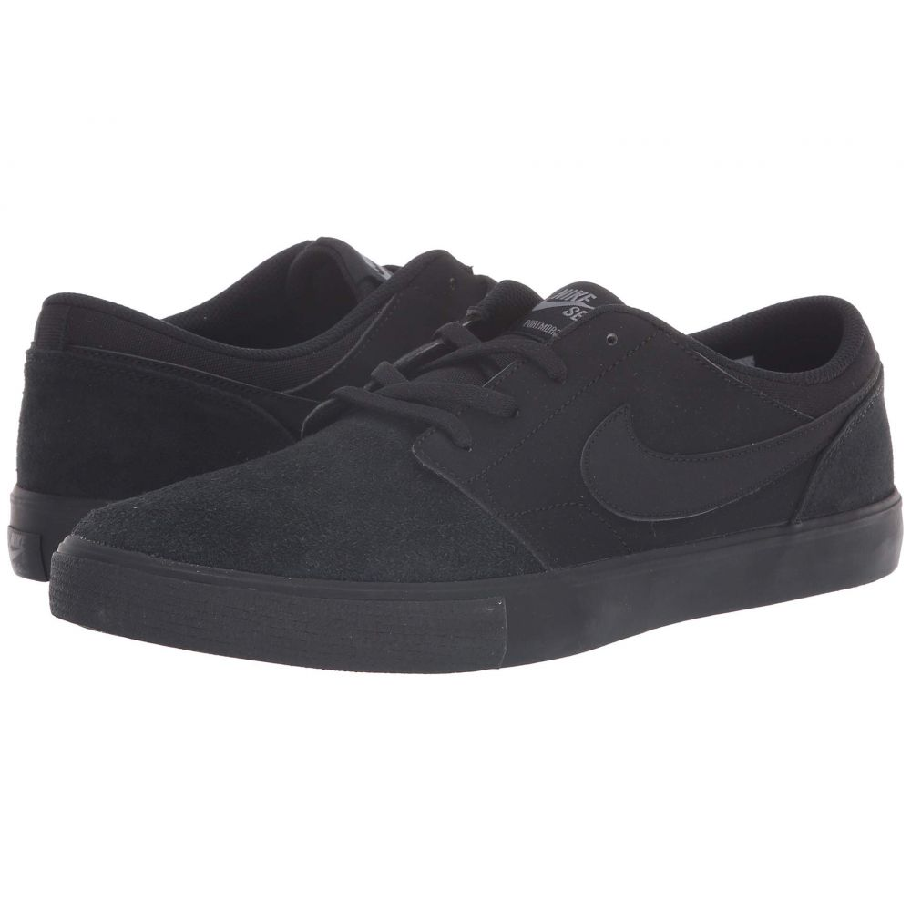 ナイキ Nike SB メンズ シューズ・靴 スニーカー【Portmore II Solar - Suede】Black/Black