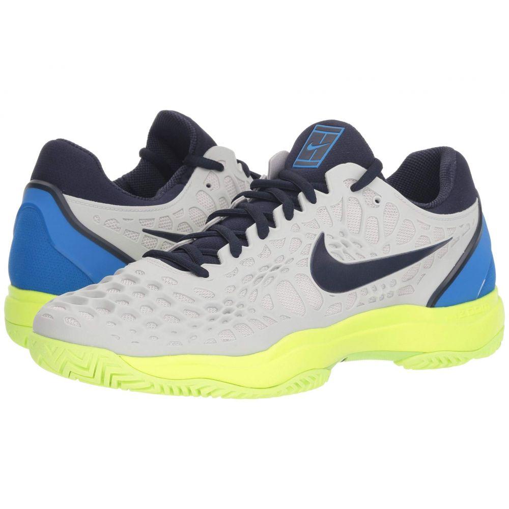 ナイキ Nike メンズ テニス シューズ・靴【Zoom Cage 3 HC】Vast Grey/Blackened Blue/Signal Blue