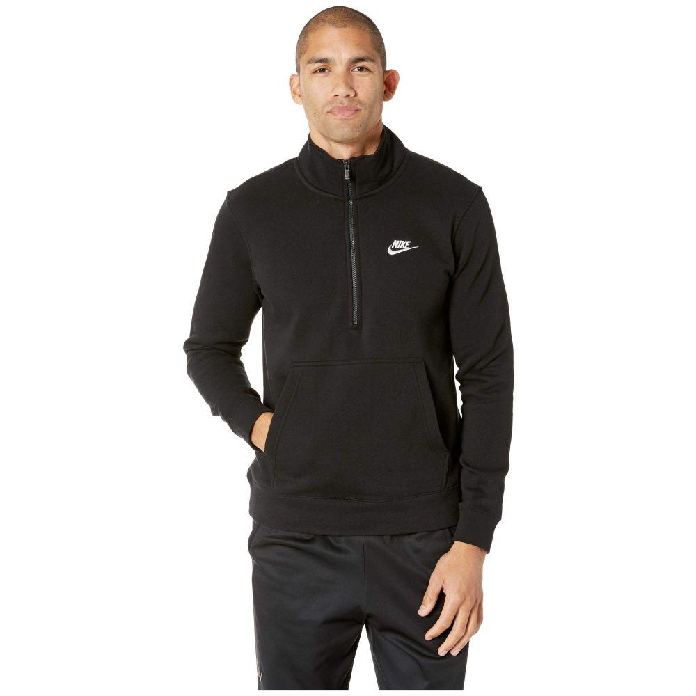 ナイキ Nike メンズ トップス【NSW Club Top Long Sleeve 1/2 Zip Bb Trnd】Black/Black/Black/White