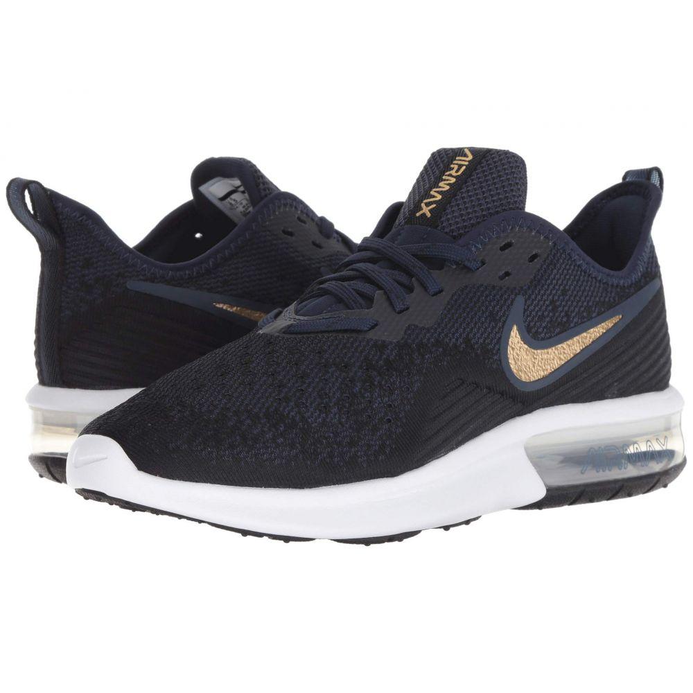 ナイキ Nike レディース ランニング・ウォーキング シューズ・靴【Air Max Sequent 4】Black/Metallic Gold/Obsidian/White