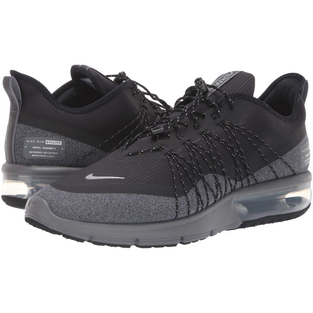 ナイキ Nike メンズ ランニング・ウォーキング シューズ・靴【Air Max Sequent 4 Shield】Black/Metallic Silver/Dark Grey