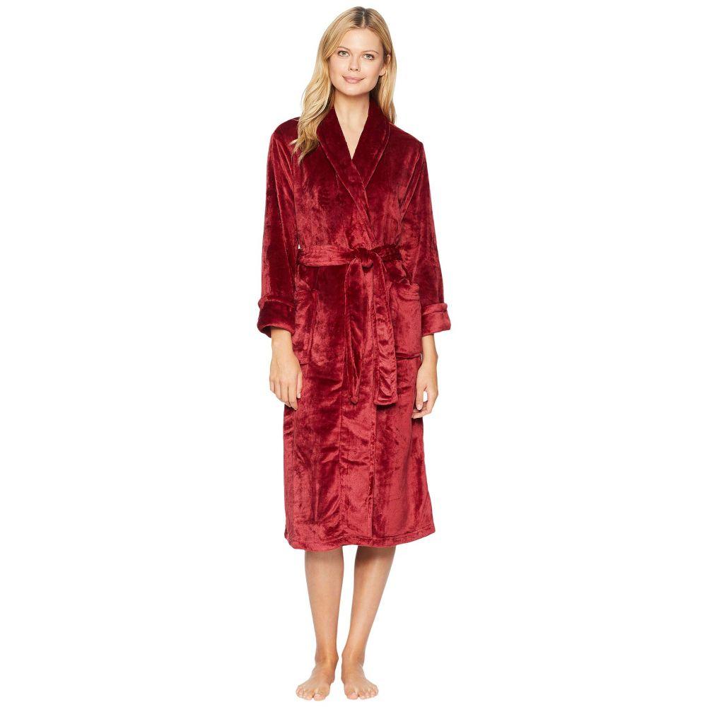 ナトリ N by Natori レディース インナー・下着 ガウン・バスローブ【Cashmere-Feel Fleece Robe】Dark Red