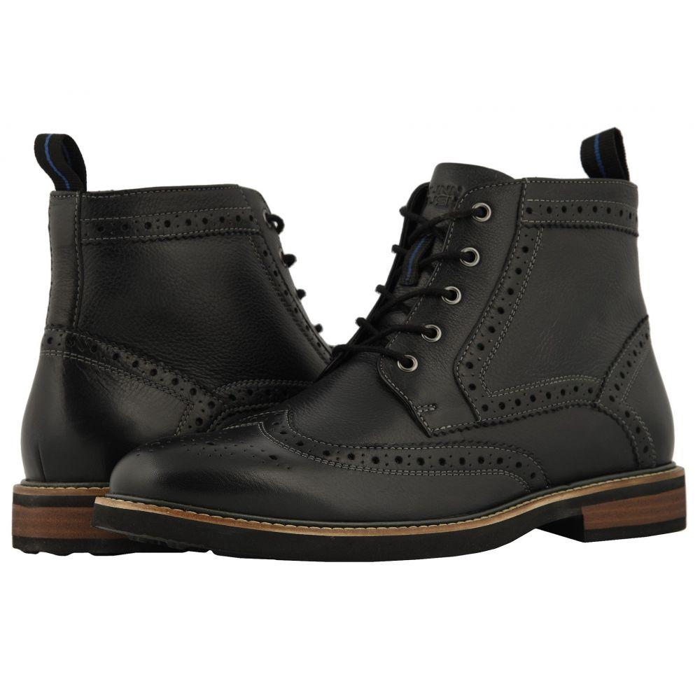 ナンブッシュ Nunn Bush メンズ シューズ・靴 ブーツ【Odell Wingtip Boot with KORE Walking Comfort Technology】Black Tumbled