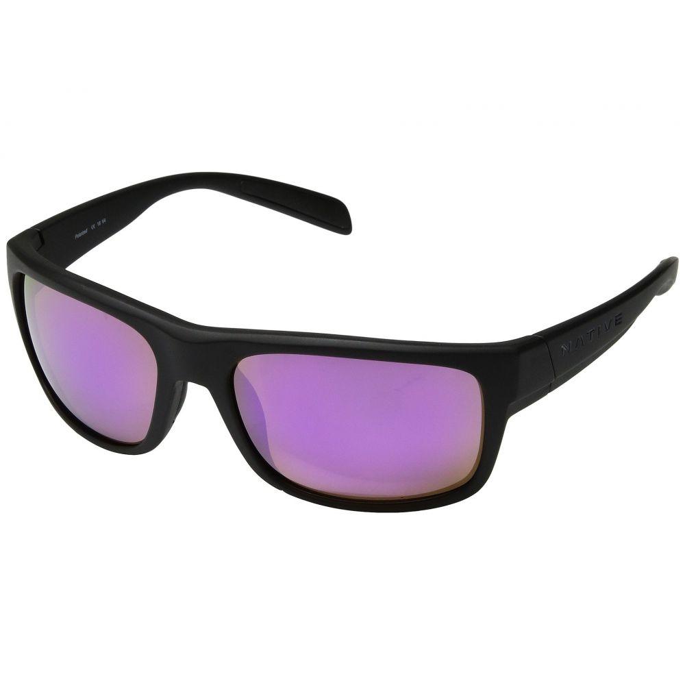 ネイティブアイウェア Native Eyewear レディース スポーツサングラス【Ashdown】Matte Black/Violet Reflex Polarized Lens