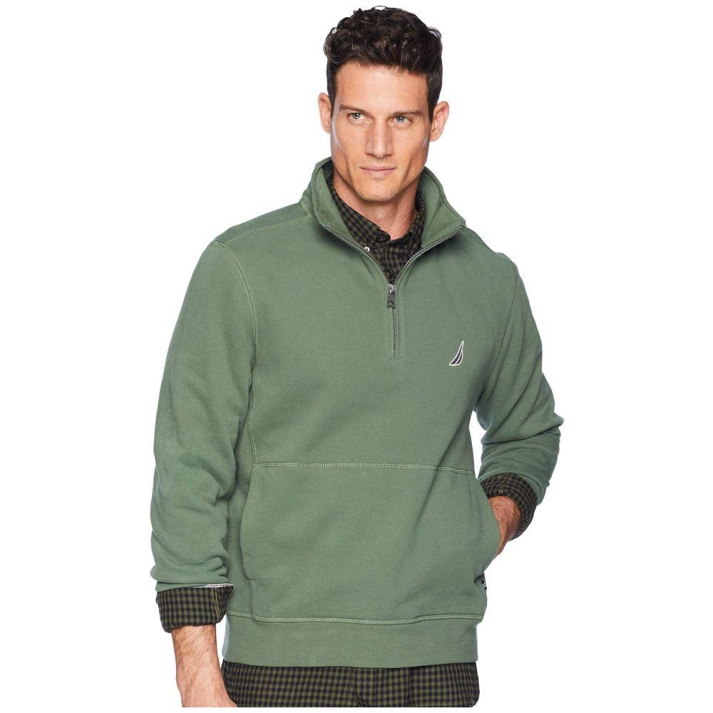 ノーティカ Nautica メンズ トップス フリース【Fleece Basic 1/4 Zip Knit Active】Pine Forest