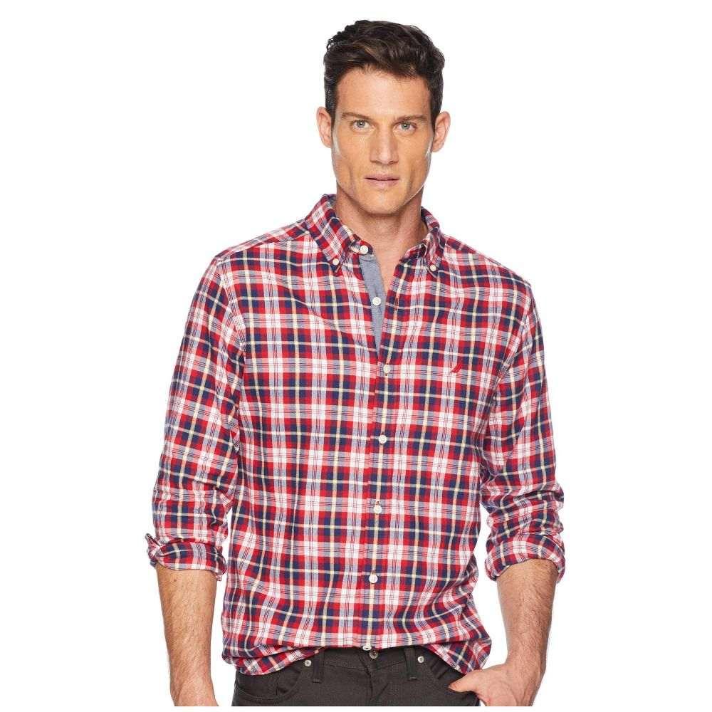 ノーティカ Nautica メンズ トップス シャツ【Long Sleeve Casual Brushed Twill Woven Shirt】Rescue Red