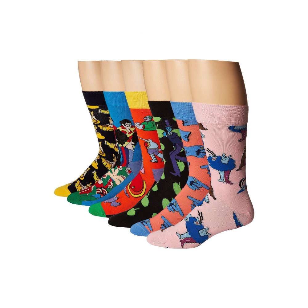ハッピーソックス Happy Socks レディース インナー・下着 ソックス【Beatles LP Collector's Box 6-Pack】Assorted