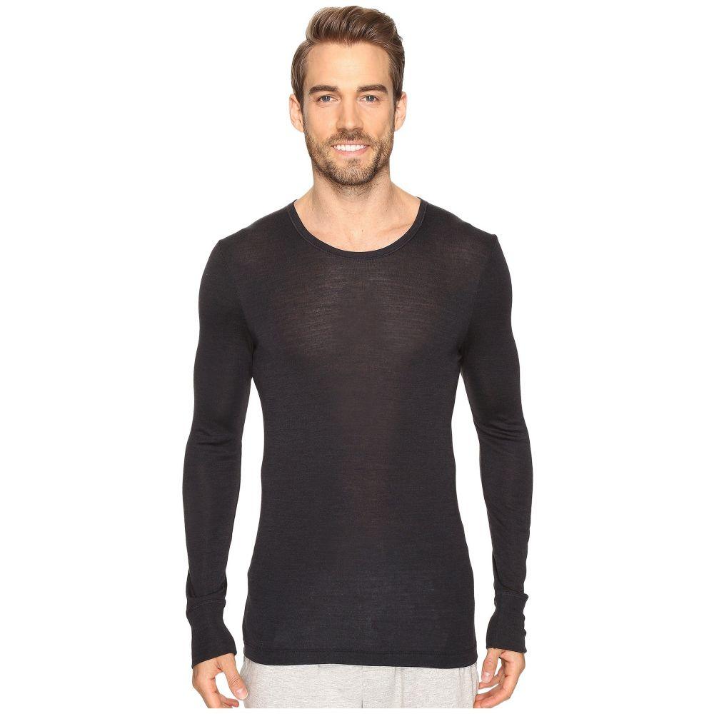 ハンロ Hanro メンズ インナー・下着 パジャマ・トップのみ【Woolen Silk Long Sleeve Shirt】Anthracite