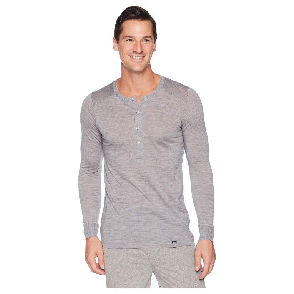 ハンロ Hanro メンズ インナー・下着 パジャマ・トップのみ【Light Merino Long Sleeve Shirt】Silver