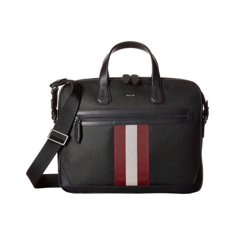 バリー Bally メンズ バッグ ビジネスバッグ・ブリーフケース【Chandos Ballistic Nylon Briefcase】Black/Bally Red/White
