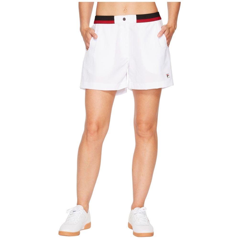 フィラ Fila レディース テニス ボトムス・パンツ【Heritage Tennis Shorts】White