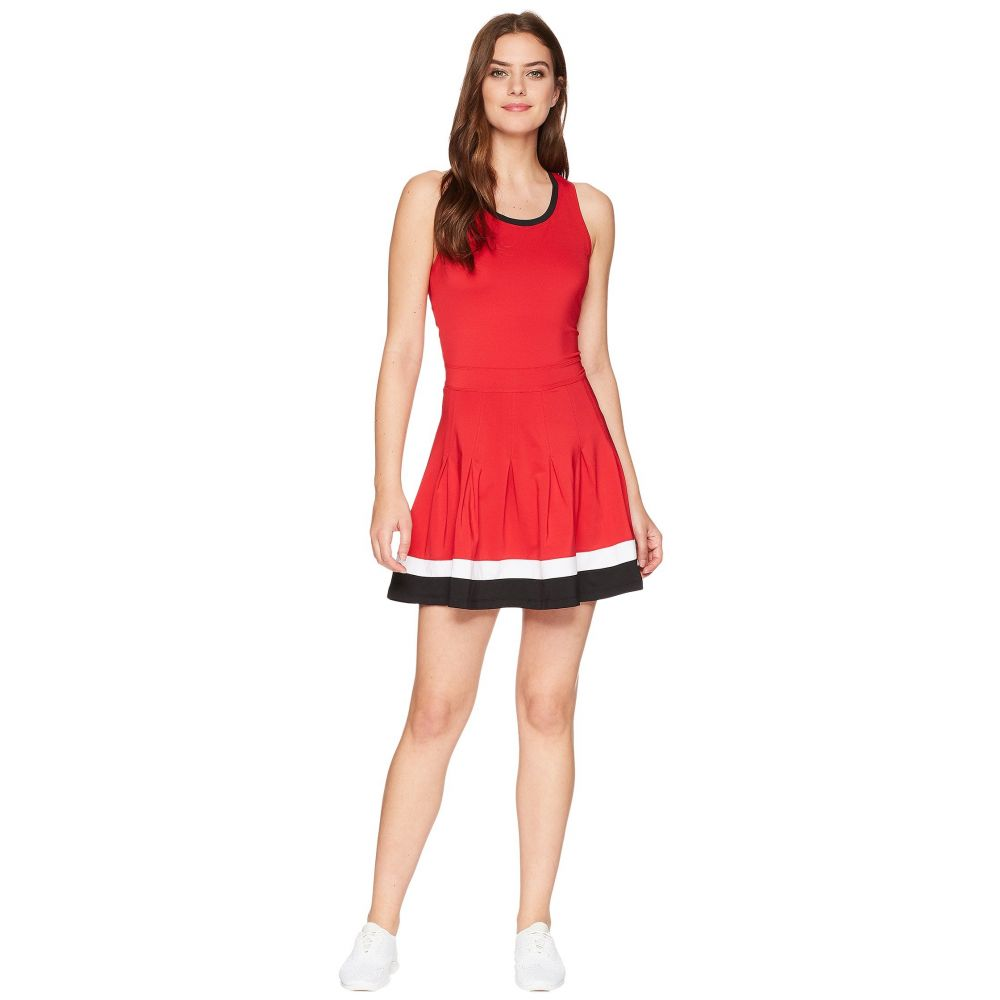 フィラ Fila レディース テニス トップス【Heritage Tennis Racerback Dress】Crimson/White/Black