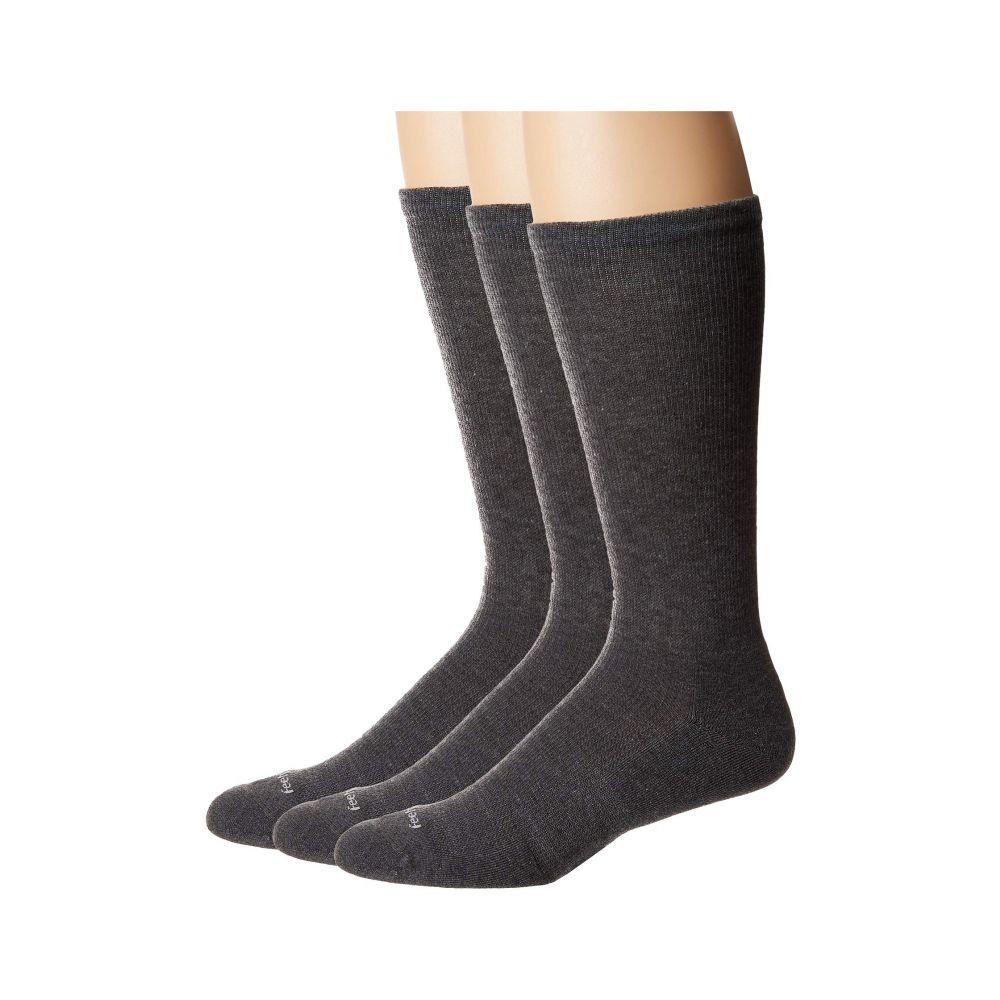 フィーチャーズ Feetures レディース インナー・下着 ソックス【Therapeutic Cushion Crew 3-Pair Pack】Gray