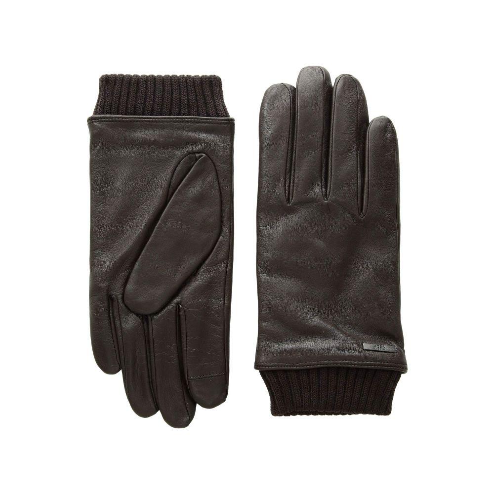ヒューゴ ボス BOSS Hugo Boss メンズ 手袋・グローブ【Hewen Touch Tech Leather Gloves】Dark Brown