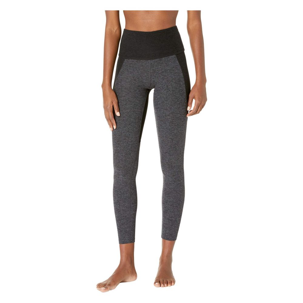 ビヨンドヨガ Beyond Yoga レディース インナー・下着 スパッツ・レギンス【Spacedye Off Duty High-Waisted Long Leggings】Black/Charcoal Color Block