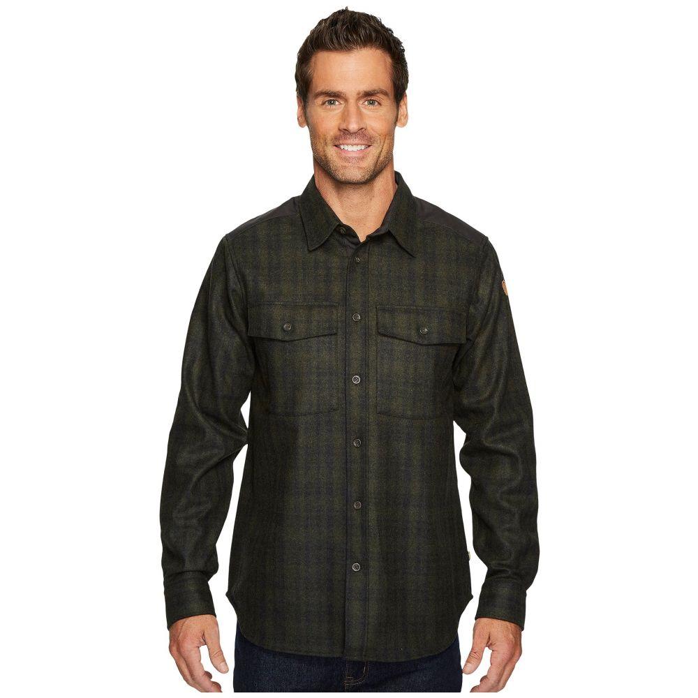 フェールラーベン Fjallraven メンズ トップス シャツ【Ovik Re-Wool Shirt】Dark Grey/Olive