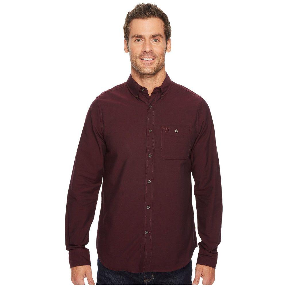 フェールラーベン Fjallraven メンズ トップス シャツ【Ovik Foxford Shirt】Dark Garnet