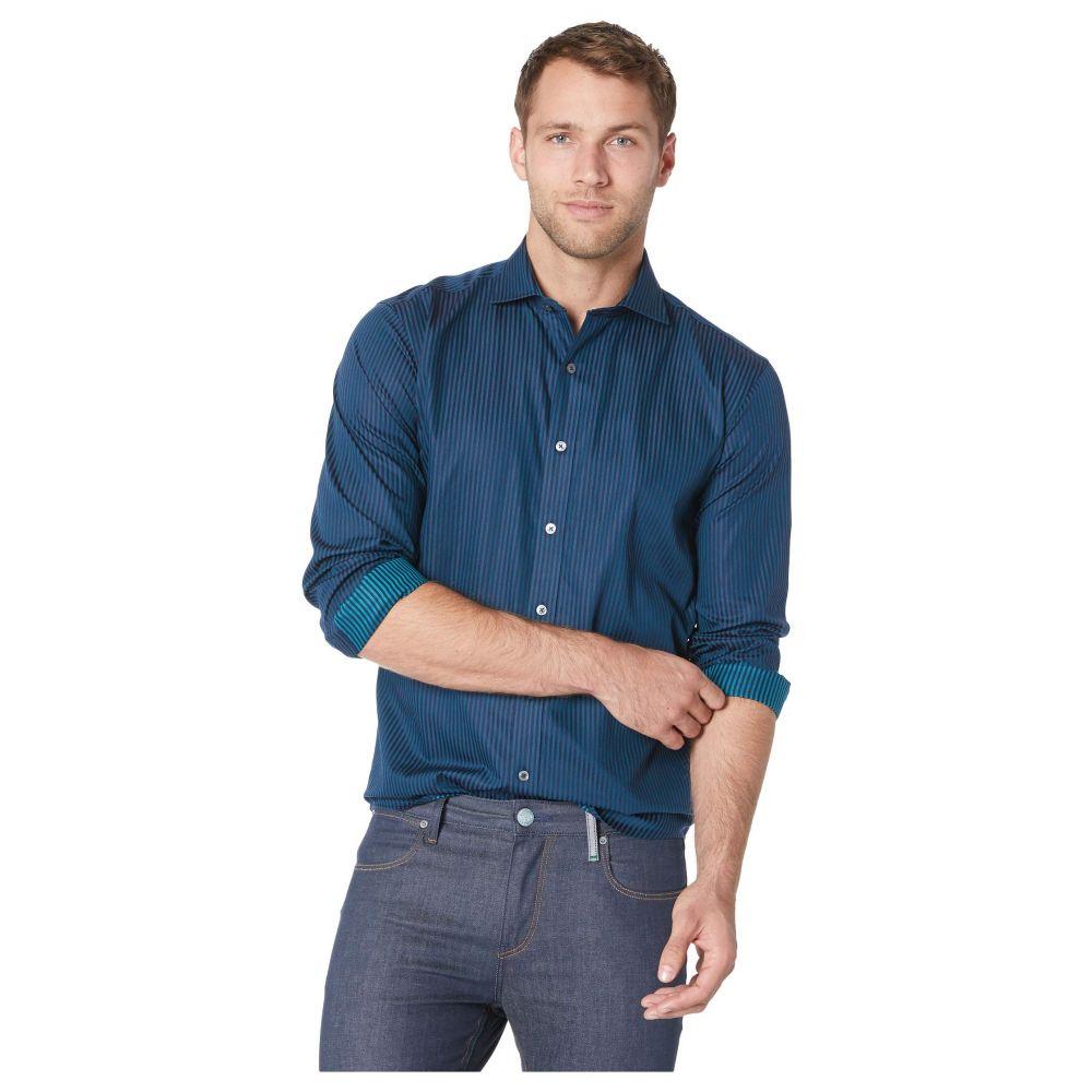 ブガッチ BUGATCHI メンズ トップス シャツ【Long Sleeve Shaped Fit Woven Shirt】Forest
