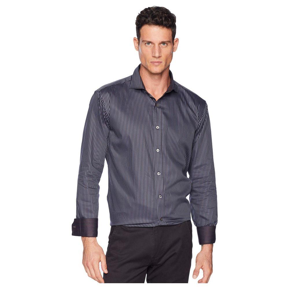 ブガッチ BUGATCHI メンズ トップス シャツ【Long Sleeve Shaped Fit Woven Shirt】Charcoal