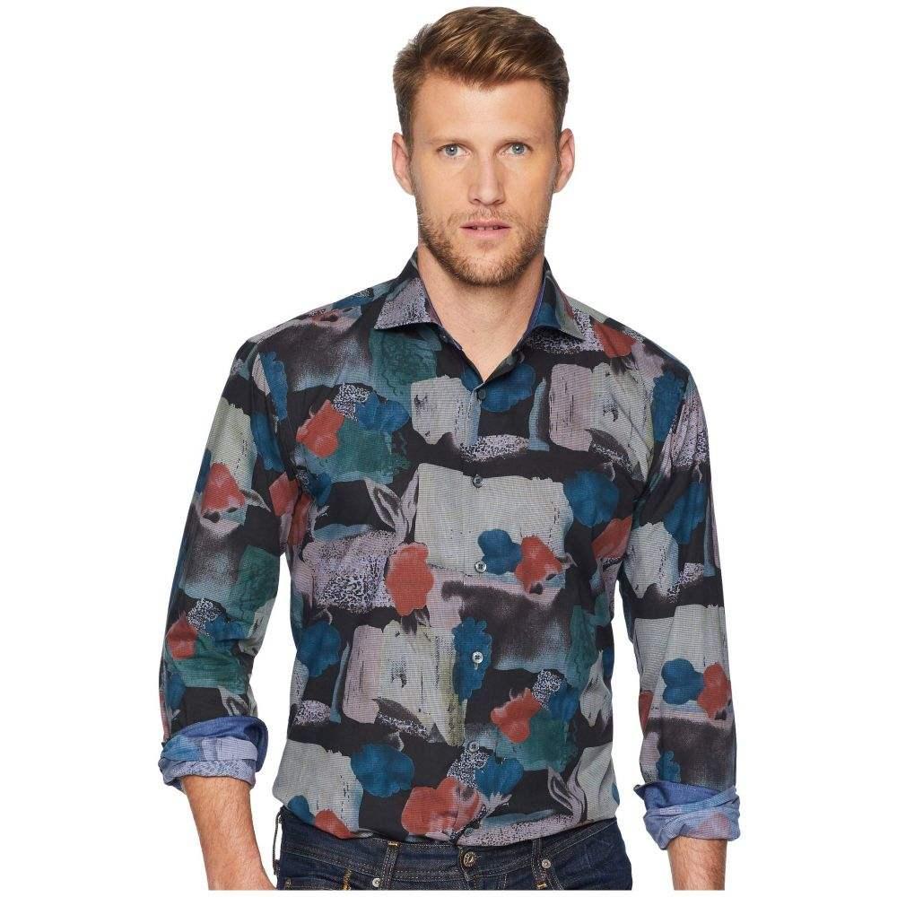 ブガッチ BUGATCHI メンズ トップス シャツ【Long Sleeve Shaped Fit Woven Shirt】Caviar
