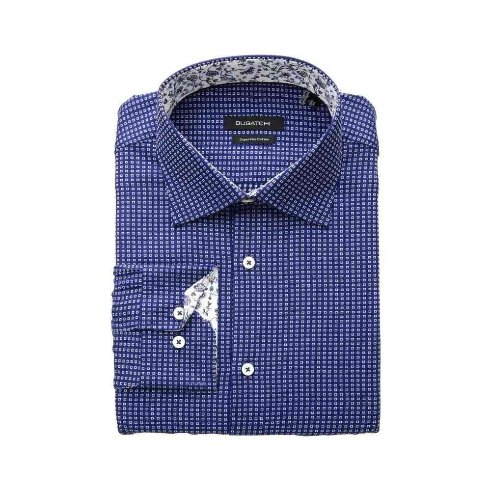 ブガッチ BUGATCHI メンズ トップス シャツ【Shaped Fit Long Sleeve Shirt】Midnight