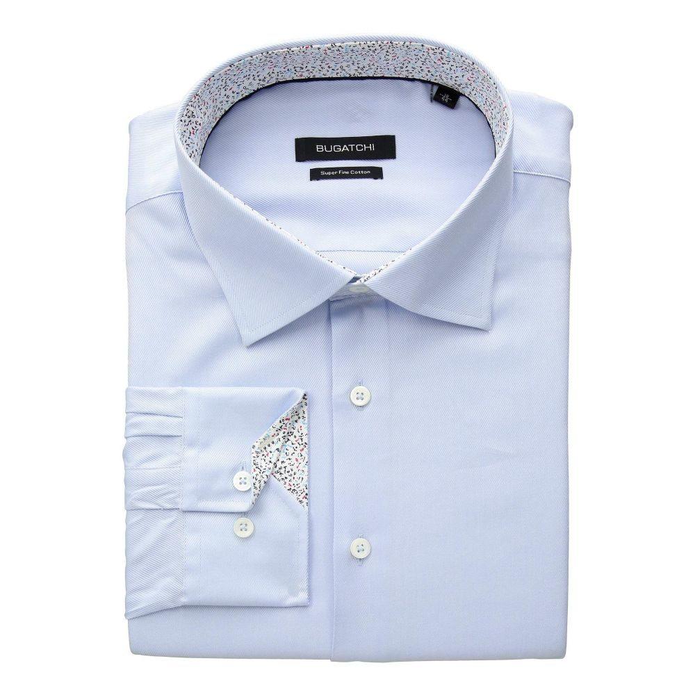 ブガッチ BUGATCHI メンズ トップス シャツ【Shaped Fit Long Sleeve Woven Shirt】Sky, ビジョンメガネ:6f6e9dcb --- avlog.jp