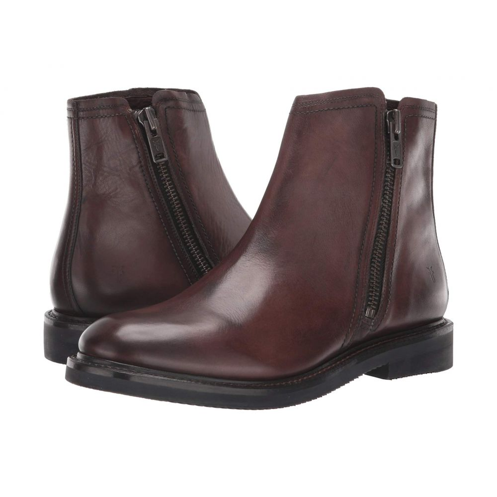 フライ Frye メンズ シューズ・靴 ブーツ【Gordon Outside Zip】Dark Brown Dip-Dye Leather