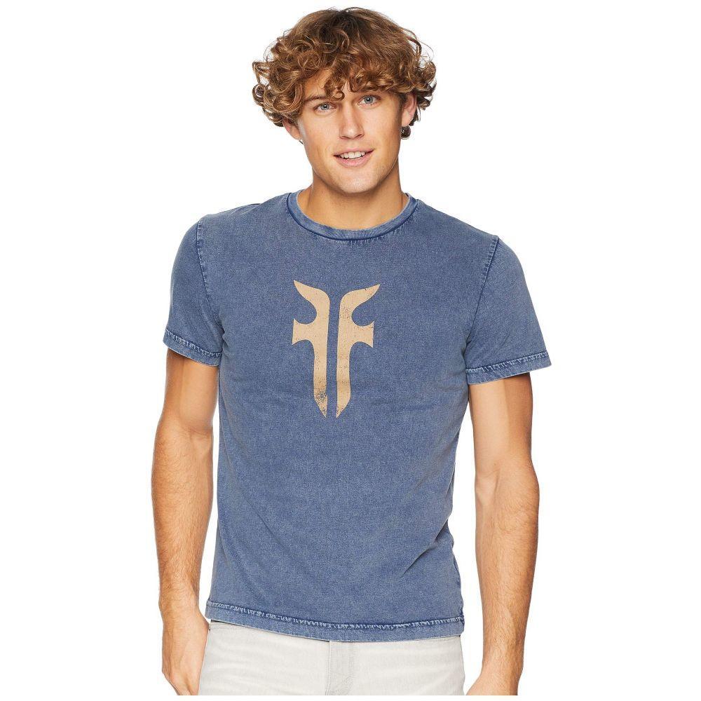 フライ Frye メンズ トップス Tシャツ【Double F T-Shirt】Night Shadow Blue Acid Wash
