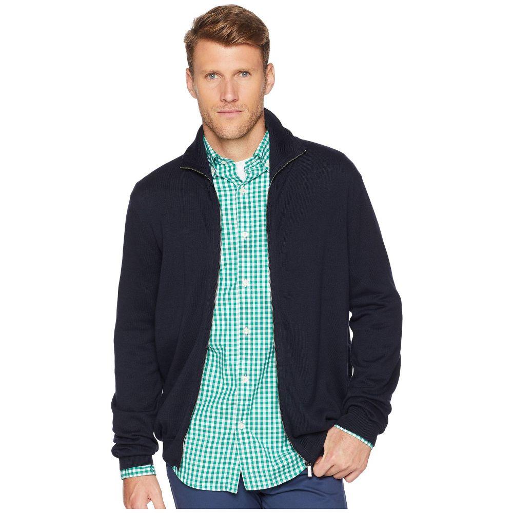 ペリー エリス Perry Ellis メンズ トップス カーディガン【Jersey Knit Zip Front Cardigan Sweater】Dark Sapphire