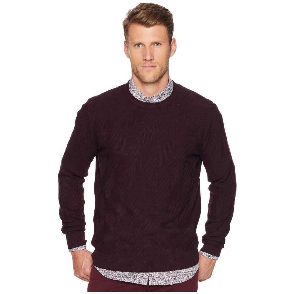 ペリー エリス Perry Ellis メンズ トップス ニット・セーター【Texture Pattern Crew Sweater】Port