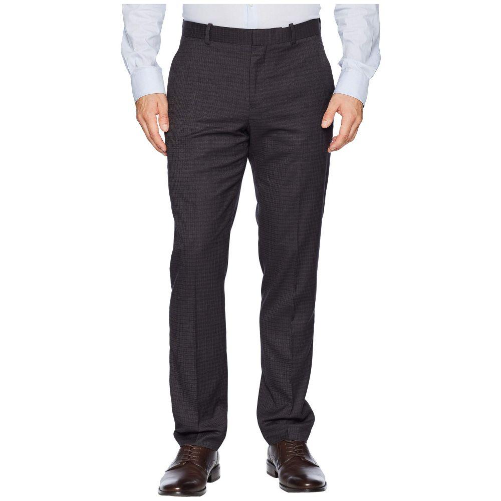 ペリー エリス Perry Ellis メンズ ボトムス・パンツ スラックス【Slim Fit Washable Plaid Tech Suit Pants】Charcoal Heather