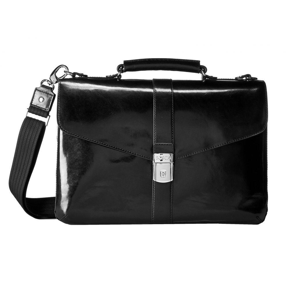 【代引き不可】 ボスカ Bosca メンズ バッグ Brief】Black ビジネスバッグ メンズ・ブリーフケース バッグ【Flapover Brief】Black, ショッピングランド でんでん:201e8e1f --- spotlightonasia.com