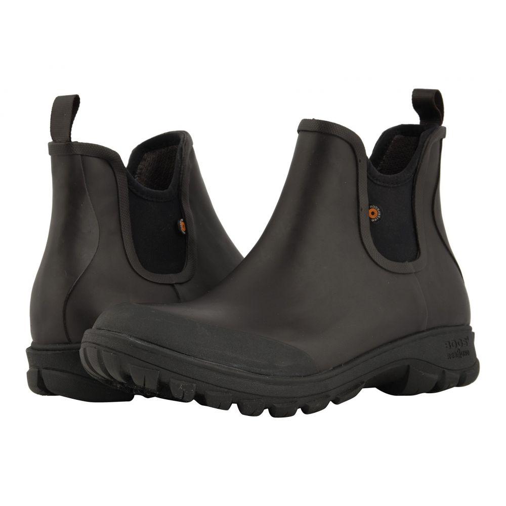 ボグス Bogs メンズ シューズ・靴 レインシューズ・長靴【Sauvie Slip-On Boot】Dark Brown
