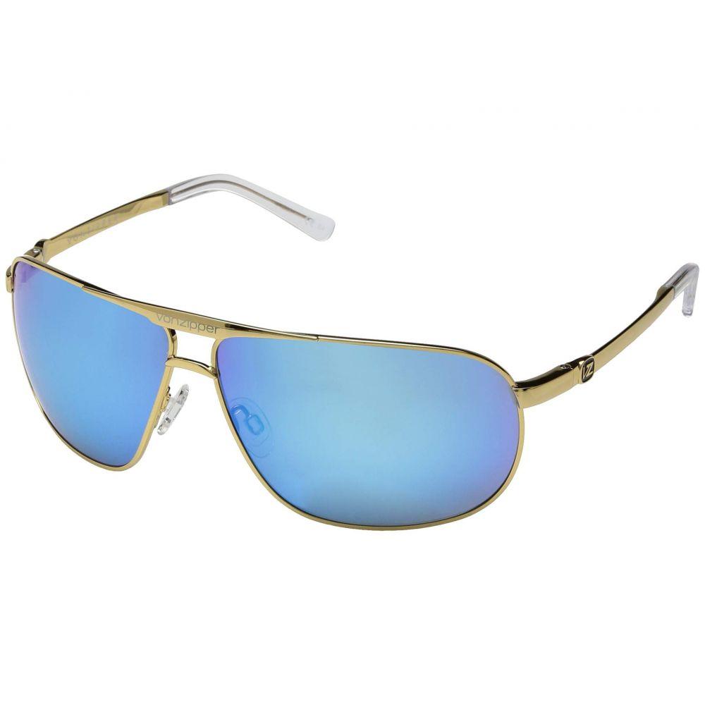 ボンジッパー VonZipper レディース スポーツサングラス【Skitch】Gold Gloss/Blue Chrome