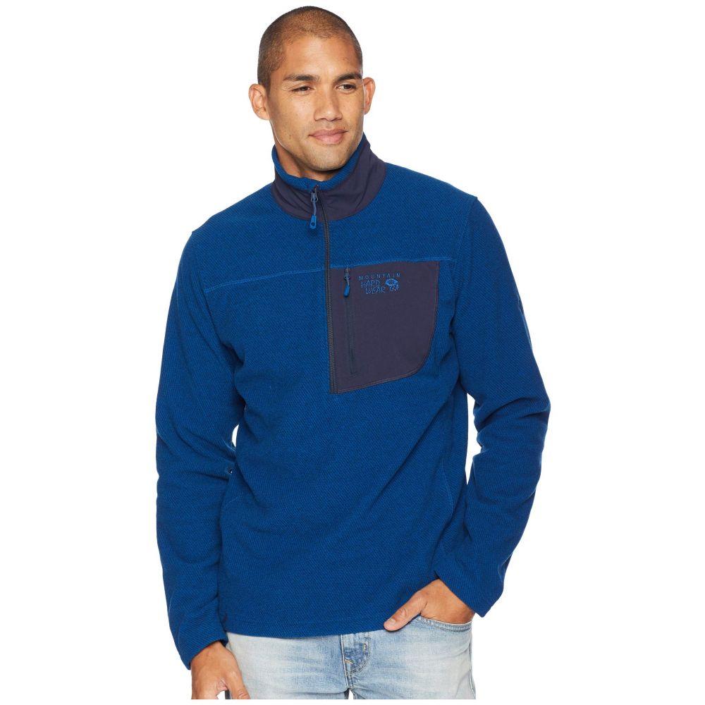 マウンテンハードウェア Mountain Hardwear メンズ トップス フリース【Toasty Twill Fleece 1/2 Zip】Nightfall Blue