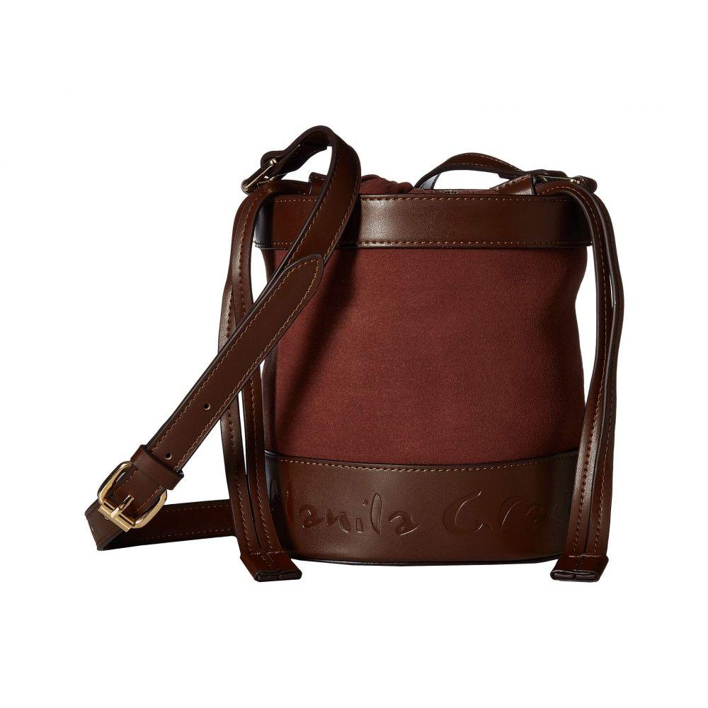 マニラ グレース Manila Grace レディース バッグ ショルダーバッグ【Secchiello Clica Crossbody Bucket Bag】Rust