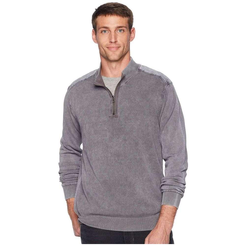 モドオードック Mod-o-doc メンズ トップス ニット・セーター【T-Street 1/4 Zip Pullover Cotton Sweater】Irongate