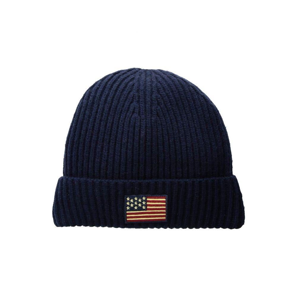 最低価格の ラルフ ローレン Polo Navy Cuff Ralph Lauren ラルフ メンズ 帽子 ニット【American Flag Cuff Hat】Hunter Navy, はるのき自然派ハーブティー&お茶:53e361b6 --- portalitab2.dominiotemporario.com