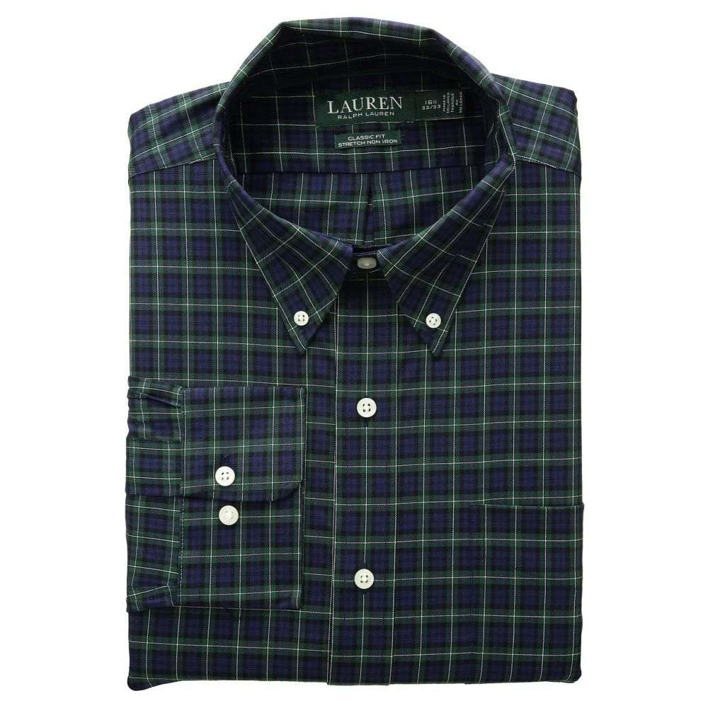 ラルフ ローレン LAUREN Ralph Lauren メンズ トップス シャツ【Classic Fit Non Iron Stretch Twill Dress Shirt】Evergreen/Navy Multi