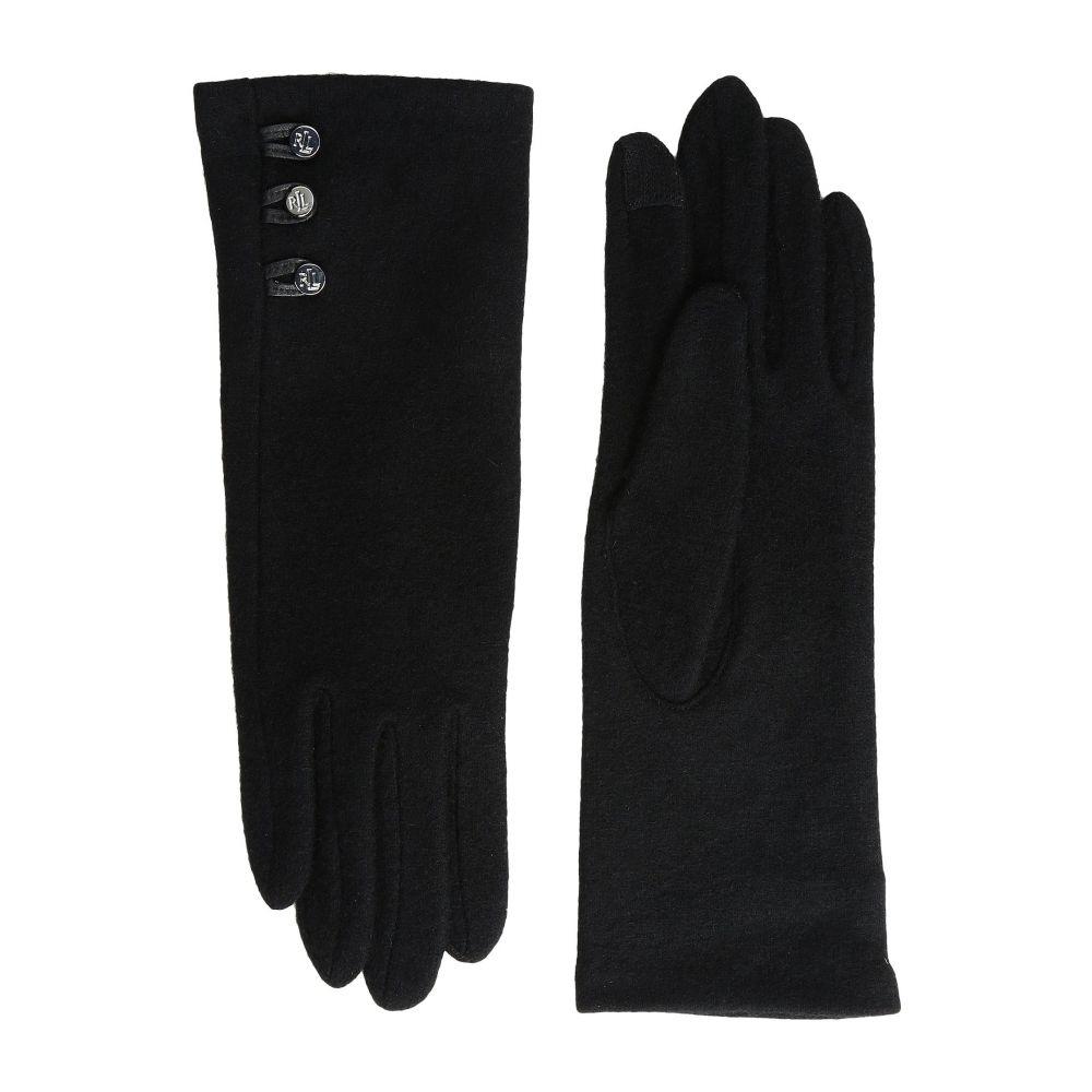 ラルフ ローレン LAUREN Ralph Lauren レディース 手袋・グローブ【Three-Button Touch Gloves】Black